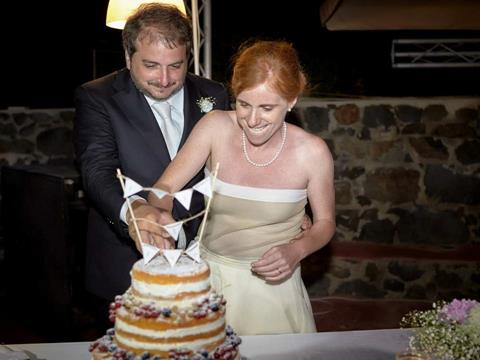 0 Matrimonio ad Ustica - Sofia Gangi - Taglio torta 50 50
